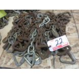 """LOT - STEEL APPRX 20"""" CHAIN UNITS (APPROX. 22 PIECES)"""
