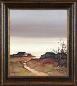 """""""Auf Sylt"""", Maler 2. Hälfte 20. Jh.Öl auf Lwd., 40 x 35 cm, links unten signiert (unleserlich), im"""