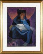 Louis Toffoli (1907-1999)Pièta (Maternité), Gouache auf Papier, 63 x 47 cm, rechts unten signiert,