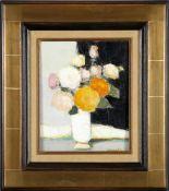 "J.A. Muslin (*1911)""Fleurs d´Automne"", Öl auf Lwd., 27 x 22 cm, unten rechts signiert, schöner"