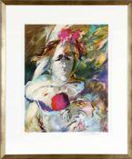 Albert Deman (1929-1996)Blumenfrau, Farblithographie, 10 von 150, unten signiert und nummeriert,
