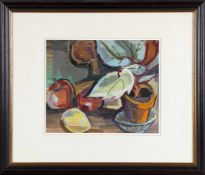 Mia Münster (St. Wendel 1894-1970 St. Wendel)Stillleben mit Topfpflanze, Gouache, um 1940-50, 30,5 x