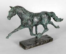 Hans Schröder (Saarbrücken 1930-2010 Saarbrücken)Traber, 1988, Bronze, grüne Patina, durch