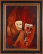 """Bernard Tillolloy""""la Moretta voilée"""", 1984 Öl auf Lwd., 73 x 54 cm, rechts unten signiert, verso"""