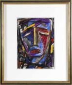 Karl Michaely (Elversberg 1922-2007 Dillingen)Haupt eines Leidenden, Pastell auf Papier, 1960, 39