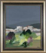 "Freddy Defossez (*1932)""Le village rose"", Öl auf Lwd., 64.,5 x 54.5 cm, rechts unten signiert,"
