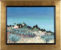 """Georges Hosotte (* Paris 1936)""""Le soir près de Florence (Toscane)"""", 1983, Öl auf Lwd., 50 x 65 cm,"""