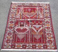 Dösemealti oder Ladik, Türkei, Mitte - 2. H. 20. Jh.Wolle auf Wolle, Gebetsteppich, kurzer Flor,