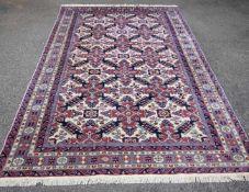 Shirwan, Rußland, 2. H. 20. Jh.Wolle auf Baumwolle, 170 x 250 cm, guter Zustand, Abrasch (