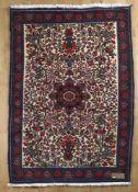 Rosenbidjar, Persien, 1980er Jahredargestellt ist ein Rosengarten um das Mittelmedaillon als