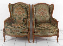 Paar Bergèren im Stil des 18. Jh., Frankreich, Mitte 20. Jh.zwei vornehme und bequeme franz.