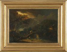 Schneider, Kaspar oder sein Bruder Georg Mainzer Maler 18. - 19. Jh.Darstellung eines Gewitters,