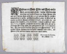 Joh. Caspar Gutwein (1674-1750)Kupferstich, Darstellung von 8 Münzen, jeweils mit Vorder- und