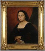 Alfonso Chierici (Rom 1816-1873)Porträt einer Römerin, Öl auf Lwd., 75 x 62 cm, verso auf Lwd. in