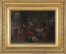 Frans II Franken (1581-1642)Öl auf Kupfer, 35,5 x 47,2 cm, links signiert, Kupfertafel auf Rückseite