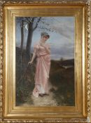 """Cuno von Bodenhausen (1852-1931)""""Frühlingsglaube nach Uhland"""", 1884, Öl auf Lwd., 106 x 70,5 cm,"""