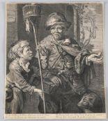 Cornelius Visscher (1619-1662)Rattenfänger, Kupferstecher und Bildniszeichner, 35,4 x 31 cm, links