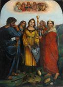 Die Verzückung der Hl. Cäcilia nach Raffael (Raffaello Santi 1483-1520) um 1514zeigt die Hl. Cäcilia