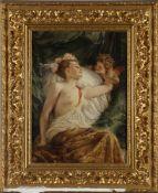 Heinrich Lossow (1843-1897)Der entwaffnete Amor im neckischen Spiel mit Venus, Öl auf Holz, 64 x