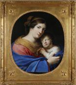Paul Mignard (Avignon 1639-1691 Lyon) zugeschriebenMutter mit Kind, Öl auf Lwd., doubliert, 65,5 x
