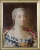 Pastellporträt, Maria Theresia von Österreich, Gemahlin von Franz Stephan von Lothringen in einer