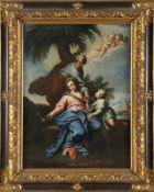 Sebastiano Ricci (Belluno 1659-1734 Venedig) zugeschriebenRast auf der Flucht, Öl auf Lwd.,