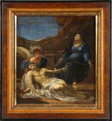 Italienischer Meister, 16. Jh.Grablegung Christi, Öl auf Lwd., ca. 40 x 36,5 cm, im profilierten
