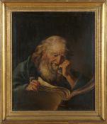 Deutscher Maler, um 1760Philosophenbild (stürmische Malerei), Öl auf Lwd., 80 x 67 cm, wohl noch