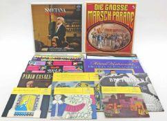 Konvolut Langspielplatten und 3 Singles, Vinyl.Überwiegend Schlager und Klassik.