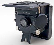 Plattenkamera, Ihagee.Vintage-Kamera. Altersspuren, Funktion nicht überprüft. Ihagee, Dresden, 20.