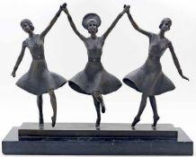 Chiparus, Dimitri (1886 Dorohoi - Paris 1947), nachRussische Balletttänzerinnen. Bronze auf