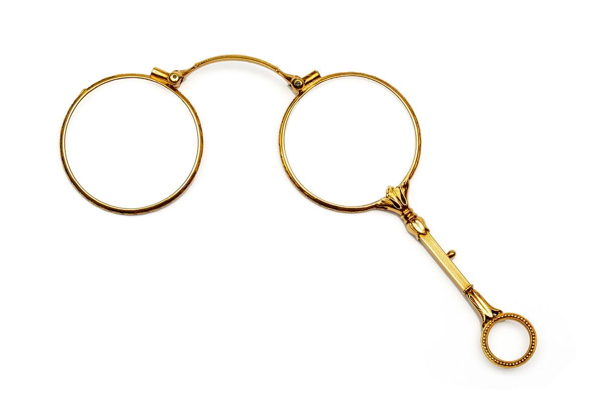 Lot 54 - Gouden lognetmet acanthusmotieven; Bruto 25,4 gr.; 1400