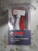 75 MOBI Mountain 3 in 1 charger cables