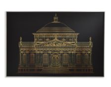 32 Arthouse Gold Architectural canvas