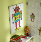56 Arthouse Arthouse Robots LED Canvas