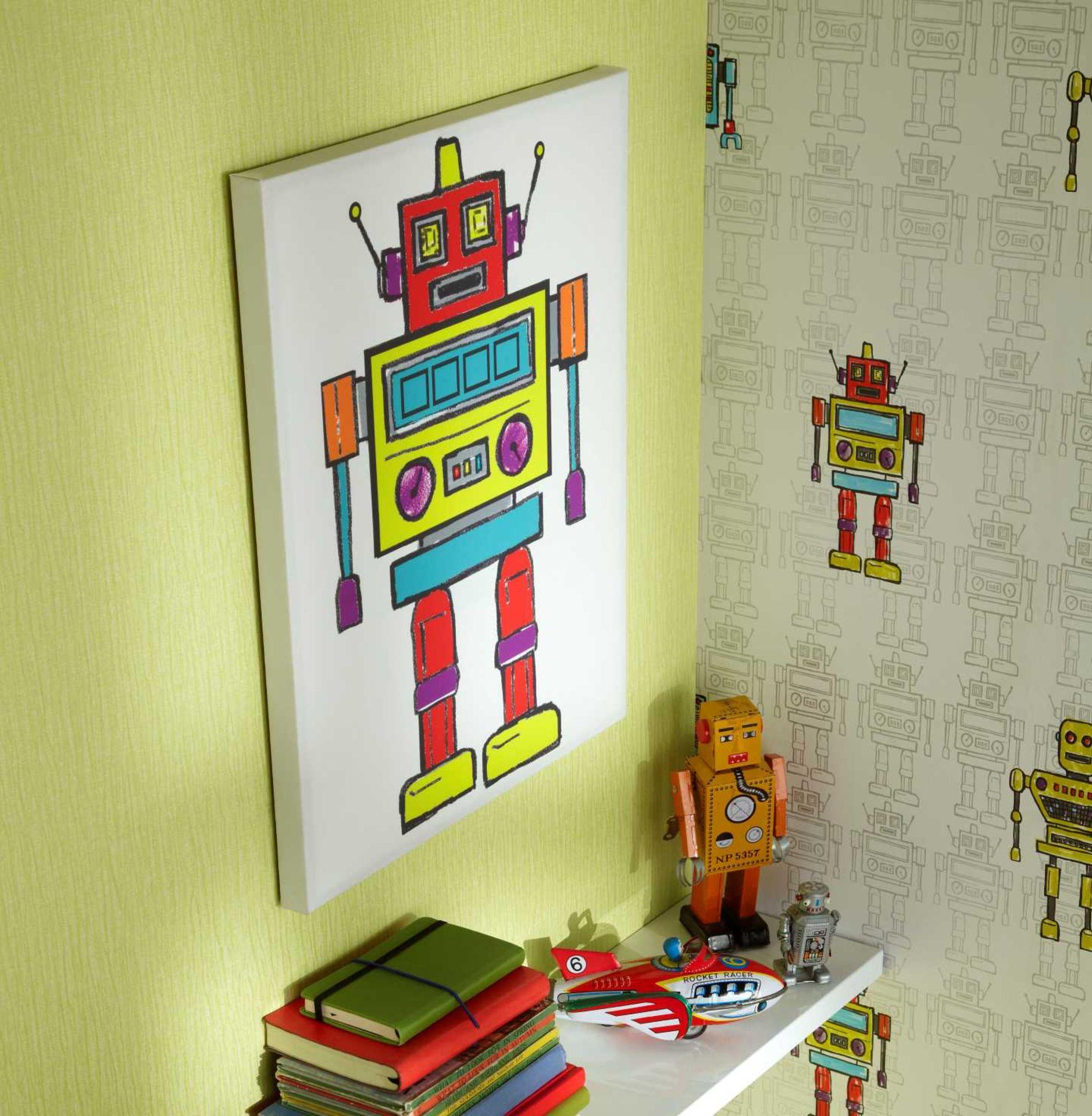 Lot 24 - 56 Arthouse Arthouse Robots LED Canvas