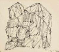 Schultze, Bernard (1915-2005)Zwei Zeichnungen auf leichtem Karton, recto und verso. Eigenh. betitelt