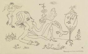 Schultze, Bernard (1915-2005)Zeichnung. Tuschfeder, monogr. u. eigenh. betitelt