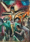 Zerbe, Karl (1903-1972) Golgatha. Öl auf Leinwand, signiert und datiert (19)23. 63:46,5cm zuzügl.