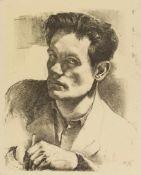 Schultze, Bernard (1915-2005)Selbstporträt, um 1946/47. Kreidelithographie, im Stein monogr.