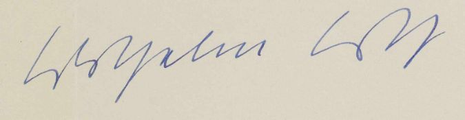 Loth, Wilhelm (1920-1993)Masch. Brief m.U. Darmstadt, 17.Dez. 1957. 1 S. Würdigt die Monographie