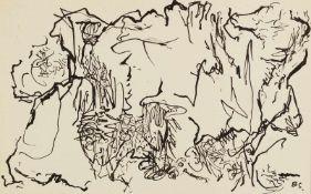 Schultze, Bernard (1915-2005)Komposition. Zeichnung, Tuschfeder und -pinsel, monogr. 9:14,3cm.