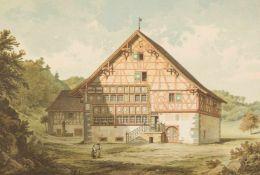 Architektur. – Schweiz. – E. Gladbach.Les constructions en bois de la Suisse, relevées dans les