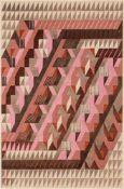 BAUHAUS. – Lena Meyer-Bergner(1906-1981). Knüpfteppich Nr.4/38, »Diagonal«. Entwurf, 1938.