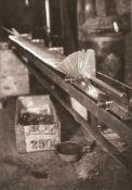 BAUHAUS. – Werner David Feist(1909-1998). Maschine in Bewegung, 1930, Fotografie, Vintage print. Auf