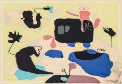 Baumeister, Willi(1889-1955). Moby Dick. Farbserigraphie, 1951. Mit Bleistift signiert. 45,5:54 (