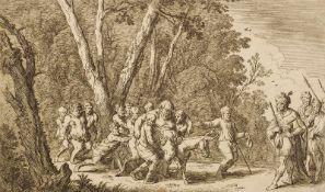 Baur, Johann Wilhelm(um 1600-1640), nach. Bacchantenzug. Radierung, monogr. (Nagler, Monogr. V,