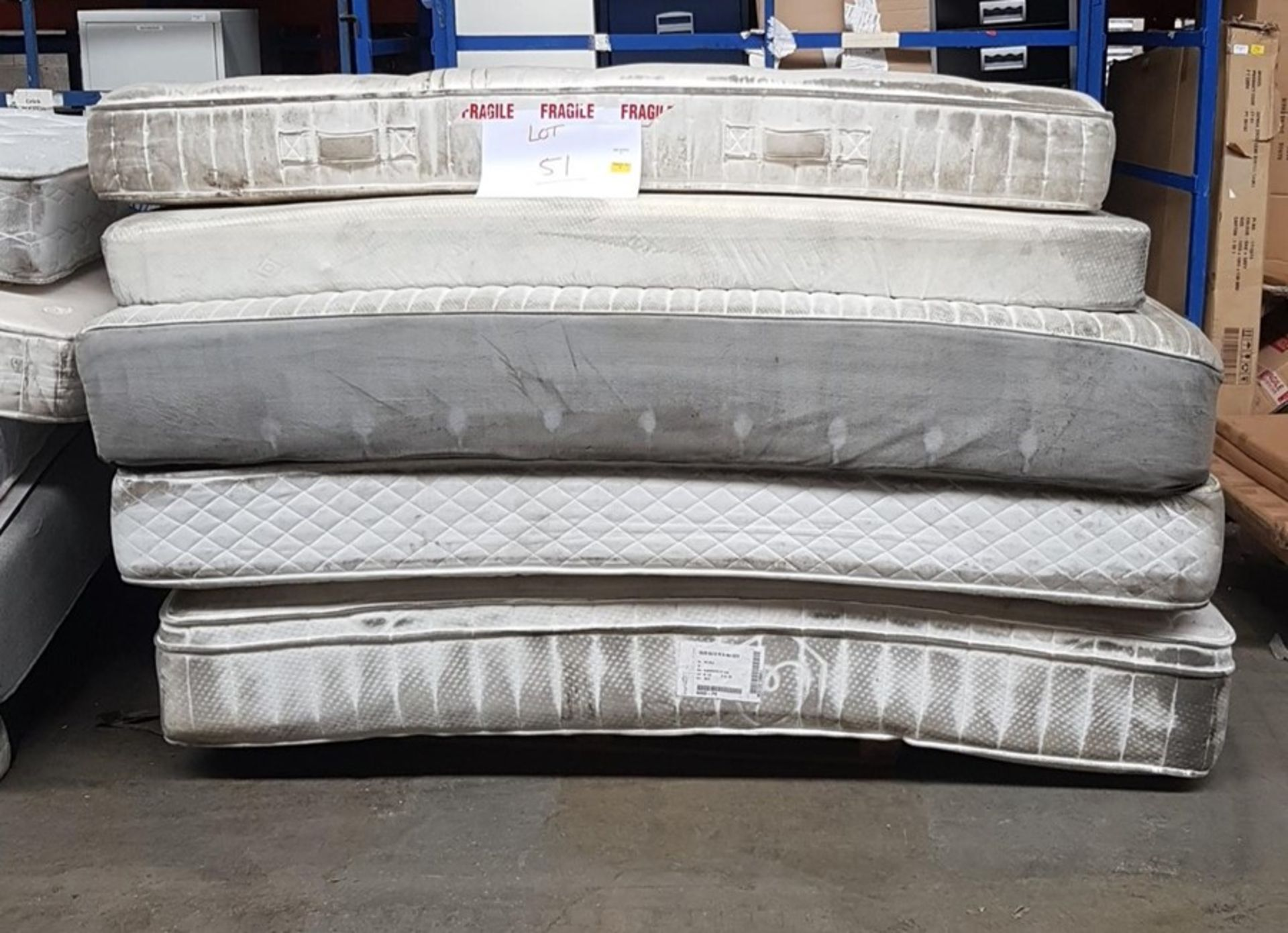 Lot 51 - 1 LOT TO CONTAIN 5 VARIOUS MATTRESS FROM SUPERKING
