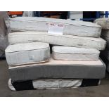 Lot 50 - 1 LOT TO CONTAIN 6 VARIOUS MATTRESS FROM SUPERKING