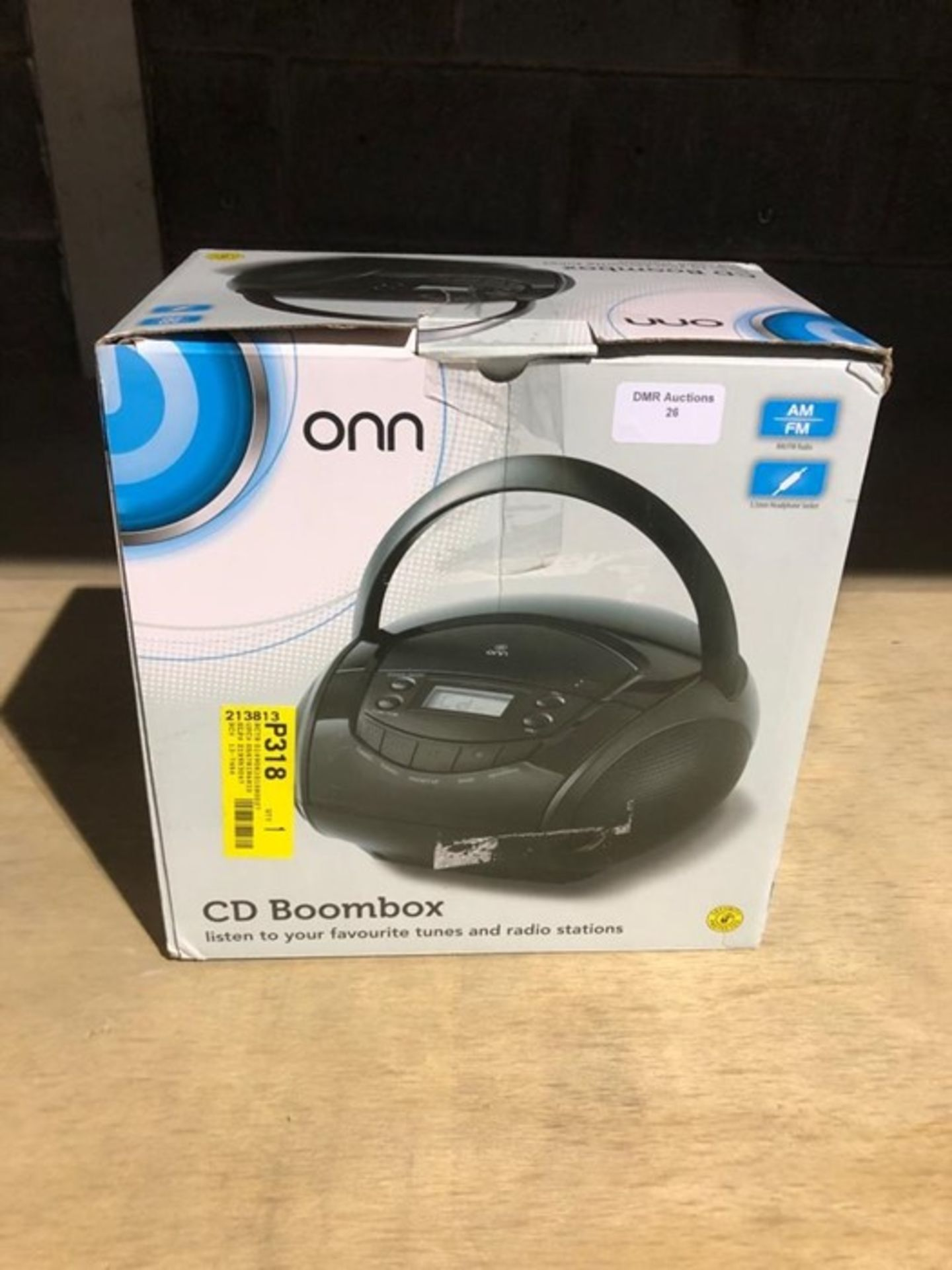 Lot 56 - 1 BOXED ONN CD BOOMBOX IN BLACK / RRP £20.00 - BL -3813 (VIEWING HIGHLY RECOMMENDED)